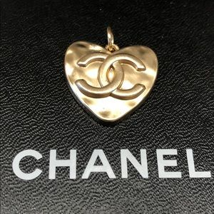 Authentic Chanel Zipper Pull - Rose Gold Heart